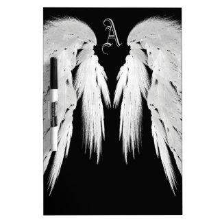 ANGEL WINGS Monogram Black Dry-Erase Whiteboard