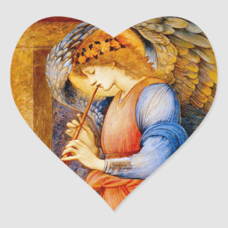 Angel With a Trumpet Heart Sticker