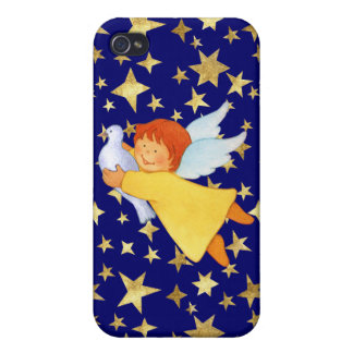 Angel with Peace Dove iPhone 4/4S Cases