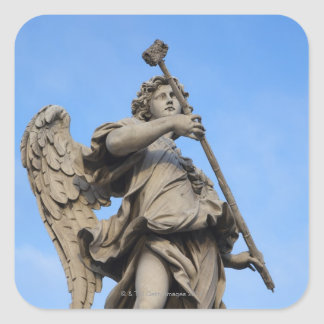 Angel with sponge on Sant Angelo Bridge, the Square Sticker