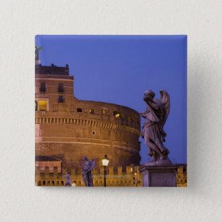 Angel with the Sudarium on the Ponte Sant'Angelo 15 Cm Square Badge