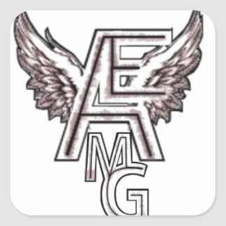 Angelo's Entertainment  Music Group product Square Sticker