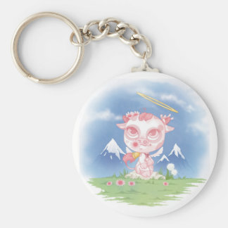 """Angels Little Farts """"Cow """" Key Ring"""