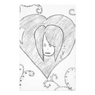 Angels Peace Love Live Drawing Stationery Design