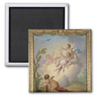 Angels Playing with a Bird in a Landscape Magnet
