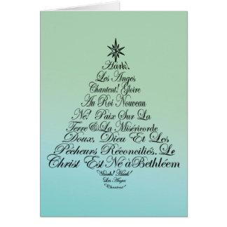 Angels Sing Christmas Tree Greeting Card