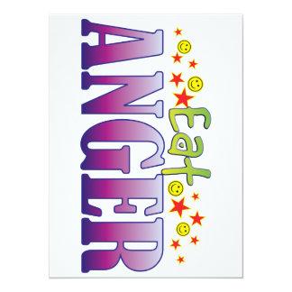 Anger Eat 14 Cm X 19 Cm Invitation Card