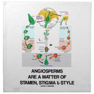 Angiosperms Are A Matter Of Stamen Stigma Style Napkin