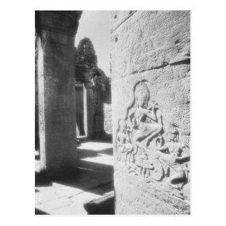 Angkor Cambodia, Apsara Carving The Bayon 2 Post Card