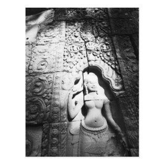 Angkor Cambodia, Apsara Carving The Bayon Post Cards