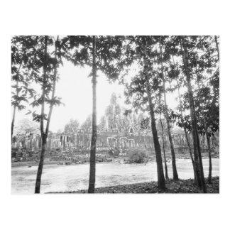 Angkor Cambodia, View of the Bayon Postcard