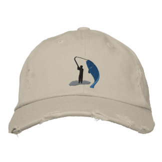 Angler Fisherman s Catch Embroidered Hat