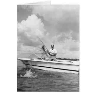 Angler Landing a Tarpon, Marco Island, Florida Card