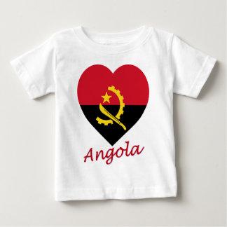 Angola Flag Heart Baby T-Shirt