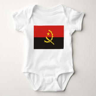 Angola National World Flag Baby Bodysuit