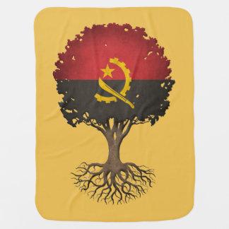 Angolan Flag Tree of Life Customizable Baby Blanket