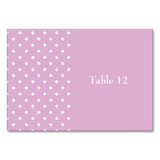 Angora Pink Polka Dot Custom Tablecard Table Cards