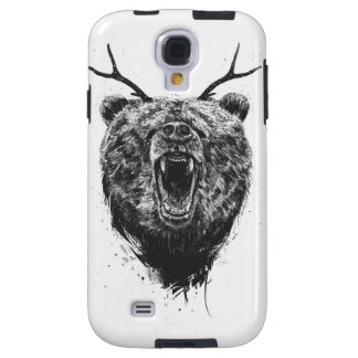 Angry bear with antlers galaxy s4 case