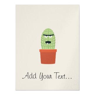 Angry cactus 17 cm x 22 cm invitation card