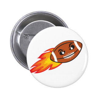 Angry football ball 6 cm round badge