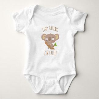 Angry Koala Bear Stop Saying I Am Cute Baby Tee