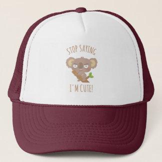 Angry Koala Bear Stop Saying I Am Cute Hat