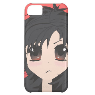 Angry Little Chibi Girl with Black Hair iPhone 5C Case