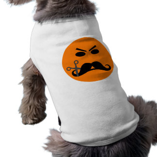 Angry Mustache Smiley pet clothing