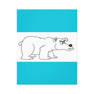 Angry polar bear design cards and paper products canvas print