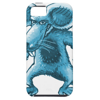 angry rat with knife blue contour tough iPhone 5 case