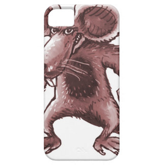 angry rat with knife sepia iPhone 5 case