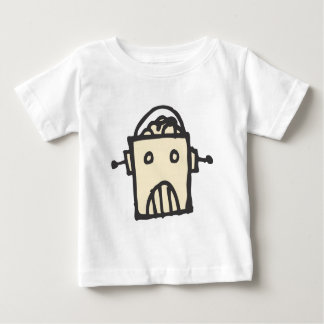 Angry Robot with Brain Baby T-Shirt