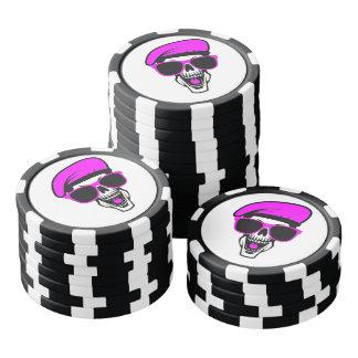 Angry Skull Poker Chips