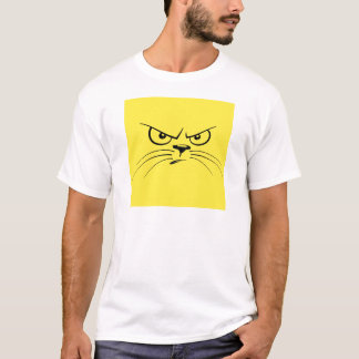 Angry Yellow Kitty Face T-Shirt