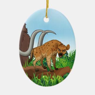 Animal and jungle ceramic oval decoration