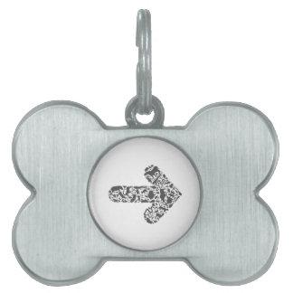 Animal arrow pet tag