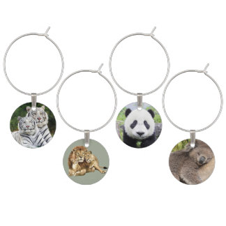 Animal Background Wine Charm