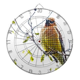 Animal Bird Cedar Waxwing Dartboard