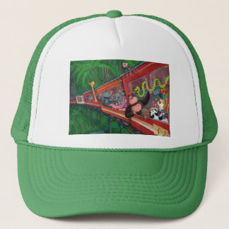Animal Jungle Train Trucker Hat