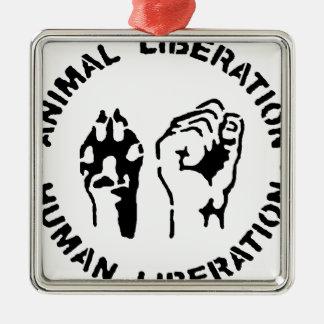 Animal Liberation - Human Liberation Christmas Ornament
