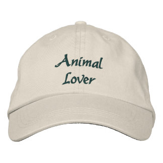 Animal Lover Cute Embroidered Hat
