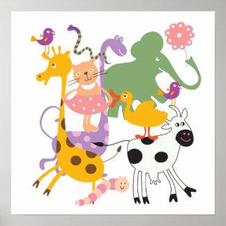 Animal Menagerie Poster