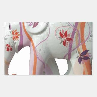 Animal Pattern Africa Peace Flowers Vines Rectangle Sticker