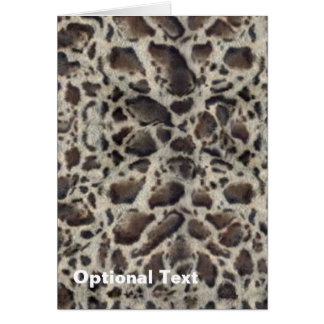 Animal Print Ocelot Card