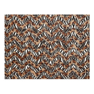 Animal Print Zig Zags Postcard