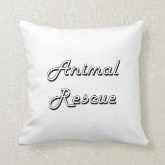 Animal Rescue Classic Retro Design Cushion