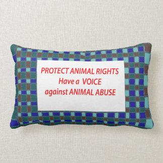 Animal Rights-Healty Living Habitat in Wild being Lumbar Cushion