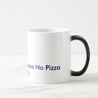 Animal Rights Means No Pizza Left! Morphing Mug