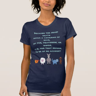 Animal Rights Quote Cute Cartoon Animals T Shirt
