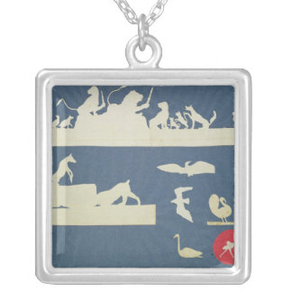 Animal Scenes Silver Plated Necklace